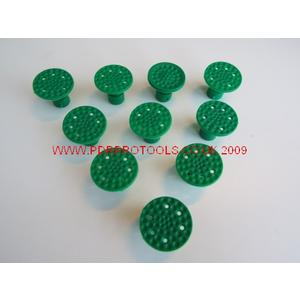 Golf Ball Dimple Tabs x10 With 25.00 mm Flat Face.